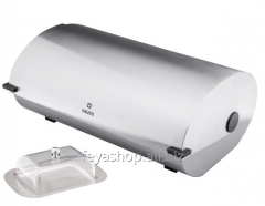 The VINZER 89154 bread box with a butterdish
