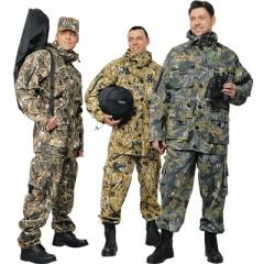 Suits for fishermen and hunters