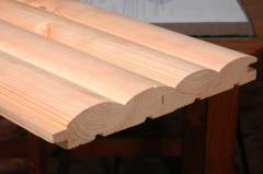 Доски обрезные, необрезные деревянные Блок-хауз