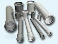 Pipes are polyvinylchloride, from the producer to