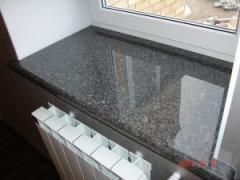 Natural stone windowsill