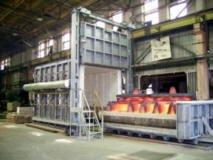 Печь газовая с выкатным подом серии