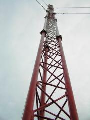 Mast for communication antennas