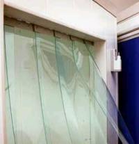 Занавеси прозрачные ленточные из ПВХ. Создание
