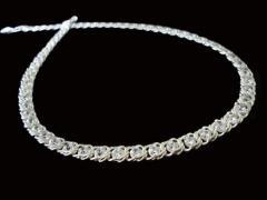 Серебряная цепочка Арабский Бисмарк с камнями