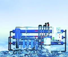 System of purification of drinking water with the return osmosis. waters, household and industrial for pouring