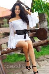 Красивое гипюровое платье 382