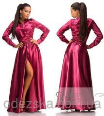 Атласное Женское Платье 2909