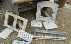 Oven molding, grid-irons, beams, doors, framework,