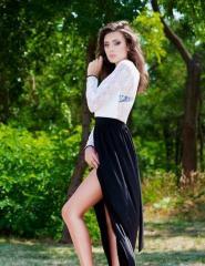 Платье женское длинное в пол с гипюром Кант