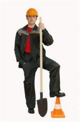 Костюм рабочий (чер+сер кант,усил) Куртка + брюки