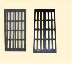 Кислотоупорные решетки и плиты из полимерпесчаного