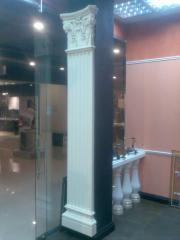 Products concrete: vases, rail-posts, colons,