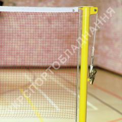 The rack is badmintonny, stationary. Racks for