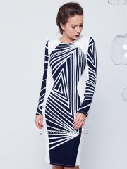 Платье темп молочное, ассиметрия