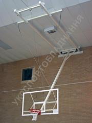 Farm of fastening of a basketball backboard,