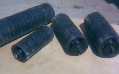 Rollers futerovanny rubber rings