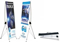 Mobile advertizing structures, X-Banner spider, H-banner. RENT. Kiev