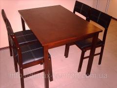 Стол обеденный со стульями (комплект Анна)
