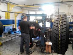 Equipment for restoration of truck tires