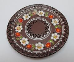 Saucer of ceramic