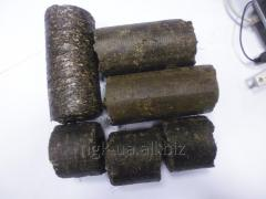 Briquettes made of sunflower husk and husk