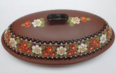 Capacity ceramic for meat, bread