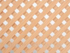 Решетка плетенная бук  620х1200мм, натур. дерево