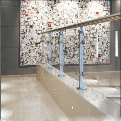 Glass handrail and protections