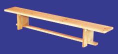 Скамья гимнастическая, деревянная, с деревянными