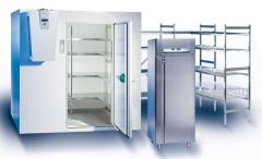 Refrigerating case, the camera for storage of