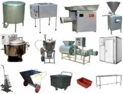 Set of the equipment for production of meat pastes