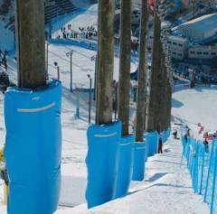 Защитные маты для горнолыжных спусков.