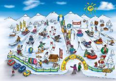 Сноутюбинг.  Зимние аттракционы. Детский городок.