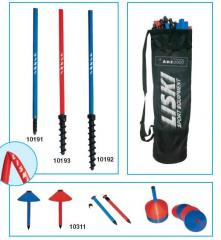 Sports bags for a poke. Sticks for slalom, pokes,