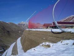 Grids for safety of ski slopes.