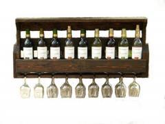 The shelf for bottles, wine racks