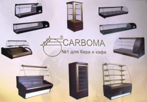 Refrigerating show-windows for cafe, bars,