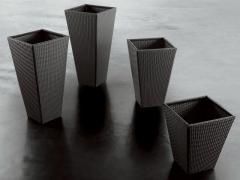 Set of 4 cache-pots of Flower