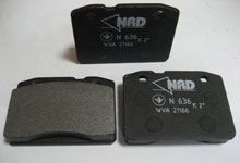 The NRD brake shoes for disk brakes of cars