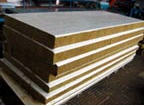 Sandwich panel with a filler from nonflammable