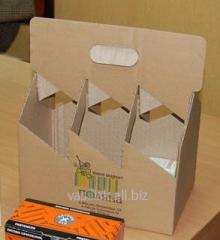 Boxes cardboard for bottles