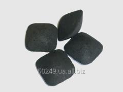 Briquette from charcoal elimination