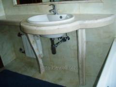 Столешницы из мрамора для ванных комнат