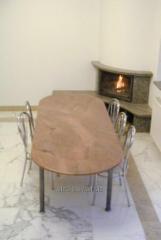 Столы обеденные (столешницы) из гранита и мрамора
