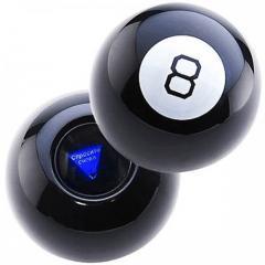 Шар предсказатель Magic Ball 8 черный KR-OR-1