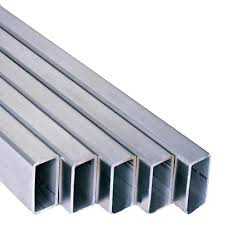 Steel pipes, rectangular.