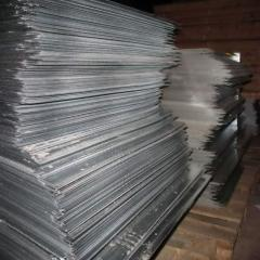 Leaf roofing flat of galvanized steel