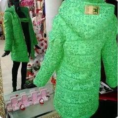 Длинная куртка с гипюром Гипюр