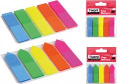 Bookmarks plastic rectangular neon color 2440-01-A